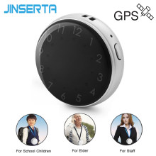 JINSERTA Mini Waterproof Vehicel GPS Tracker Multi-Function Locate Pocket Watch SOS Alarm Real-Time Tracking for Kids Elder(China)