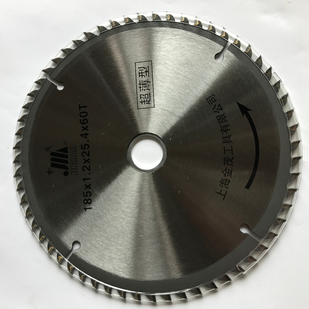 Free Shipping Good Quality Thin Kerf 185*1.2*25.4*60T TCT Saw Blade For Thin Wood/timber Cutting Home Decoration Using
