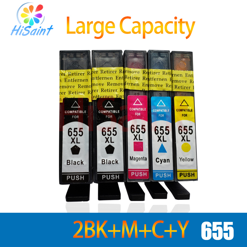 hisaint 2BK+1C+1M+1Y for <font><b>hp</b></font> 655 ink cartridge for <font><b>hp</b></font> Deskjet Ink Advantage 3525/4615/4625/5525/<font><b>6520</b></font>/6525 inkjet printer free image
