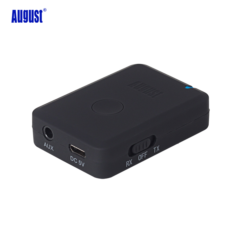 August MR260 2-in-1 Bluetooth Transmitter Receiver aptx Wireless Dual Mode Audio Stereo Music Sender and Receivers for TV ,PC