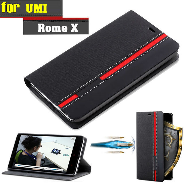 New For UMI Rome X Case Ultra thin Leather Flip Back Case Cover For UMI Rome / Rome X With Holder Stand Function