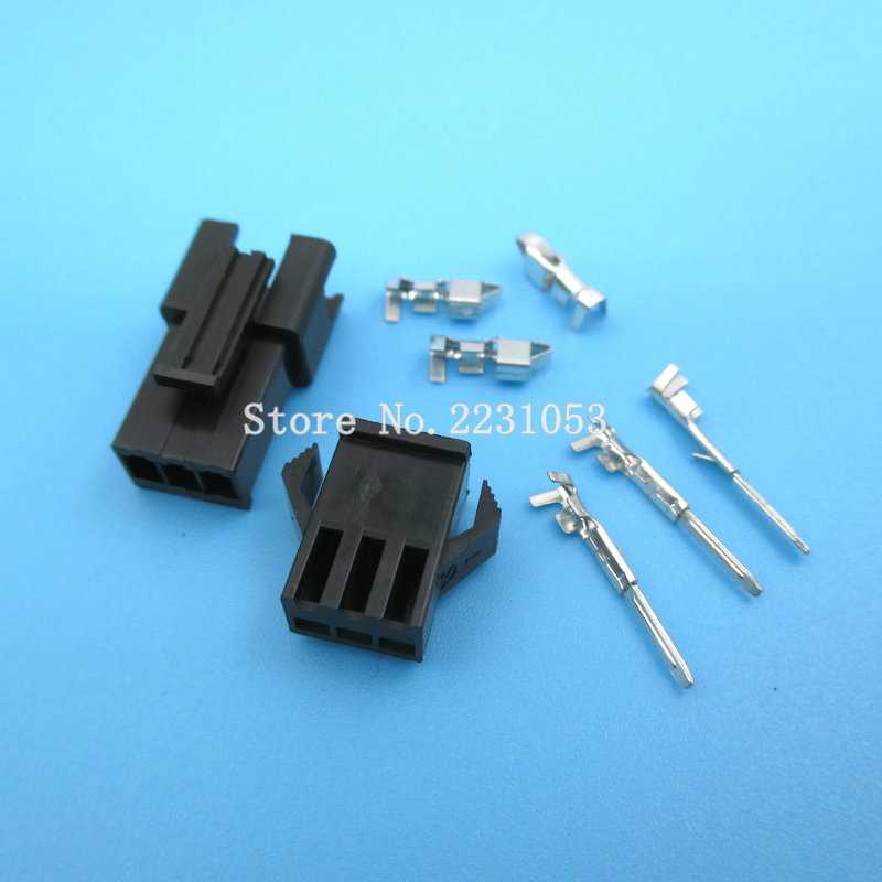 10 Sets SM-2.54mm Pitch 3p Female And Male Header Connectors Adaptor Plug SM2.54-3P