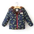 2017 winter Baby boy/girl duck down Windbreaks camel hair thick coat warm fashion hooded children Jackets
