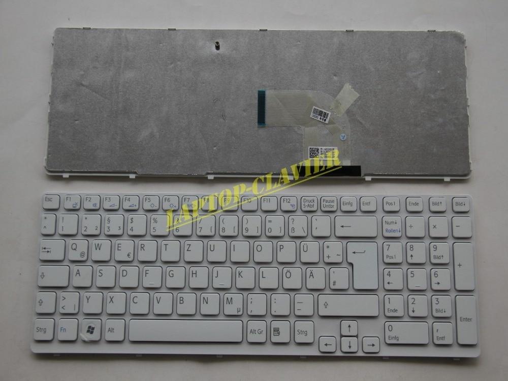 New notebook Laptop keyboard for Sony Vaio SVE15 series 149032921 German Deutsch DE GR QWERTZ Frame russian ru keyboard for sony vaio sve15 sve 15 sve 15 white keyboard with frame