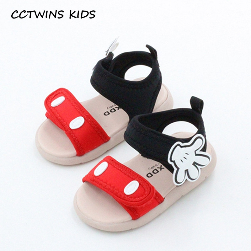 CCTWINS KIDS 2018 Summer Kid Cotton Red Children Fashion Black Soft Shoe Toddler Beach Brand Baby Girl Pink Mickey Sandal BB003 oshkosh b gosh hava g athletic sandal toddler little kid