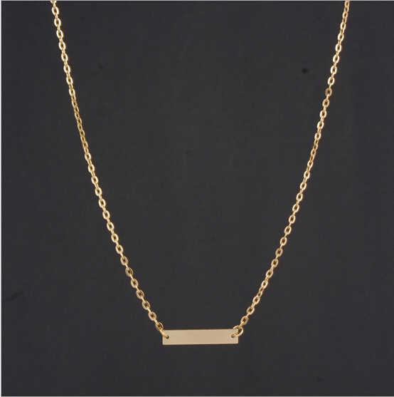 1 шт. модные золотые туфли из органической кожи горизонтальная палка Благородный Простой турник ожерелье с бежевым подвесом P1054