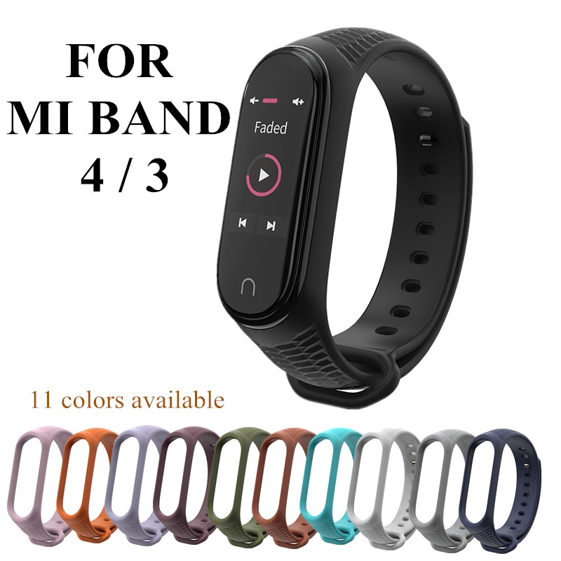 Mi Band 4 3 Silicone Wrist Strap Aurora Bracelet For Xiomi Mi Band 4 3 Smart Watch Bracelet Sport Miband 4 3 Strap
