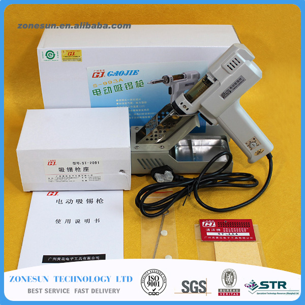 220V 100W S-993A Electric Vacuum Desoldering Pump Solder Sucker Gun Soldering sucker electric soldering iron soldering gun ninyoo soft fashion men casual shoes genuine leather flats shoes black high quality breathable students shoes plus size 46 47 48