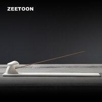 Zen Japanese Style Stick Incense Burner Boutique Ceramic Censer Handmade Porcelain Incense Plate Holder Creative Home