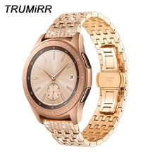 TRUMiRR Diamond Watchband for Samsung Galaxy Watch 42mm 46mm Quick Release Band Stainless Steel Strap Women Men Jewelry Bracelet