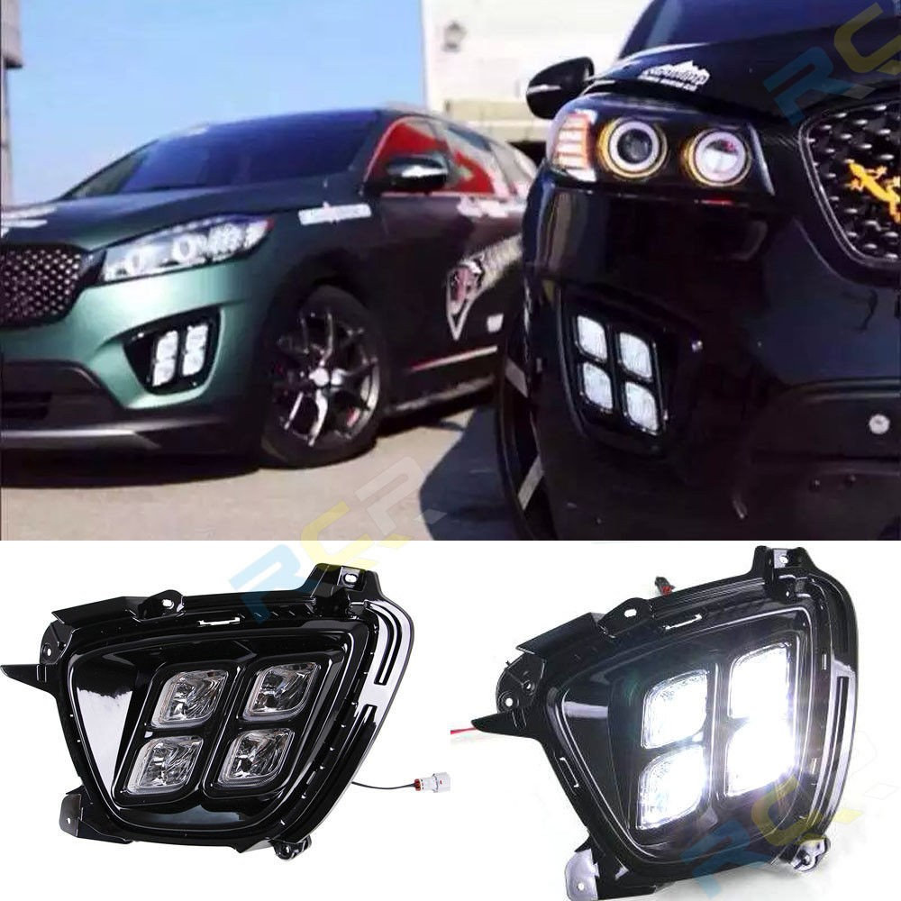 Fast Free Shipping Super Bright 4 Led Drl For 2015 Kia Sorento Oem Wiring Harness K 1