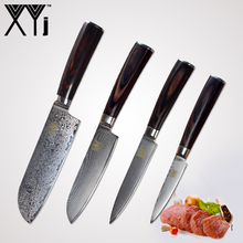 hot deal buy xyj damascus steel knife kitchen cooking knives set accessories 73 layer japanese vg10 damascus knife kitchen tools accessories