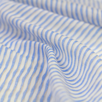 wavy sky blue silk cotton spinning light thin summer dress fabric