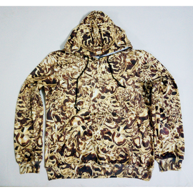 Real American size gold chains 3D Sublimation Print OEM Hoody/Hoodie Custom made Clothing plus size