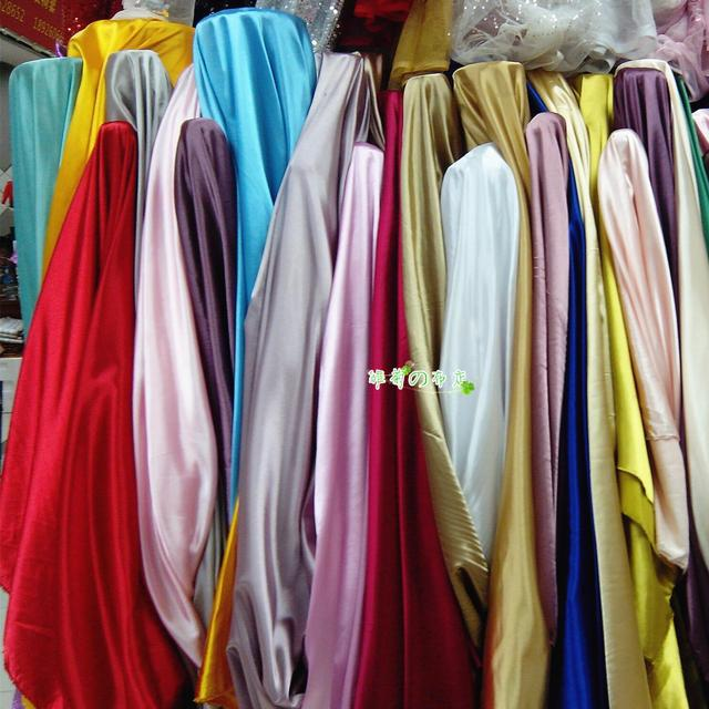 Clotheslining Inspiration High Quality Multicolor Silk Stretch Satin Satin Bright Satin