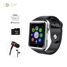 2016 New Smart Watch Android GT08 Wearable devices A1 for IOS Apple watch iPhone 6 6s 7 Box packaging Jm26 Headset