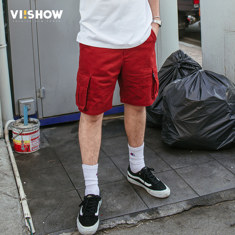 VIISHOW 2018 new arrivals fashion men cargo shorts loose fashion cotton mans short trousers bermuda masculina casual KD1617182