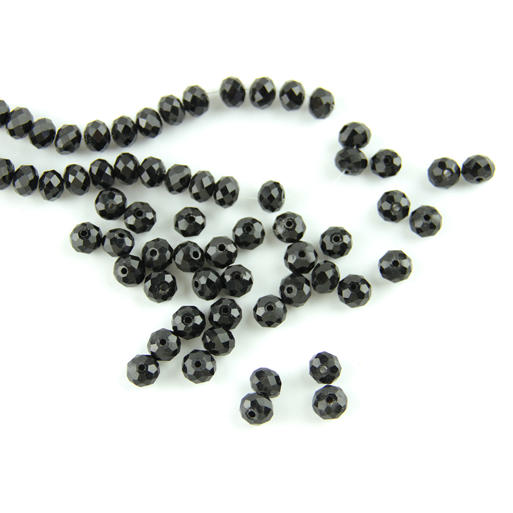 1500pcs AB black glass crystal Faceted Rondelle loose bead 4mm