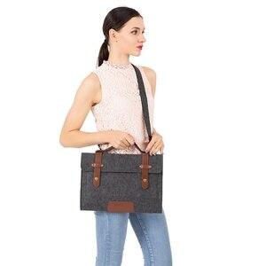 Image 5 - MOSISO 13.3 14 15 15.6 inch Felt Laptop Bag Case for Macbook Asus Dell HP Women Notebook Messenger Shoulder Handbag Briefcase Me