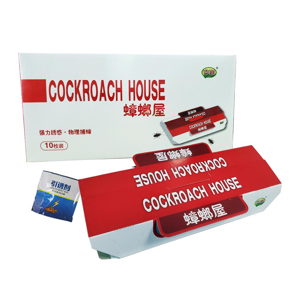 Image 2 - 10pcs Killing Roach House Anti Cockroach Trap Bait Included Disposable Killer Cockroach Glue Trap-in Traps from Home & Garden