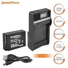 1Packs 7.2V 1500mAh LP-E17 LPE17 LP E17 Camera Battery + USB Charger For Canon EOS M3 M5 750D 760D T6i T6s 8000D Kiss X8i L10 new original vuvg l10 m52 mt m5 1h2l w1