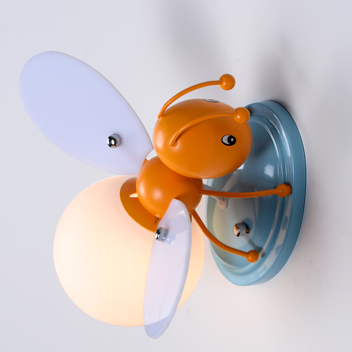 creat Children bedroom boys and girls bedside lamp decorative LED cartoon bee LED children's wall lamp