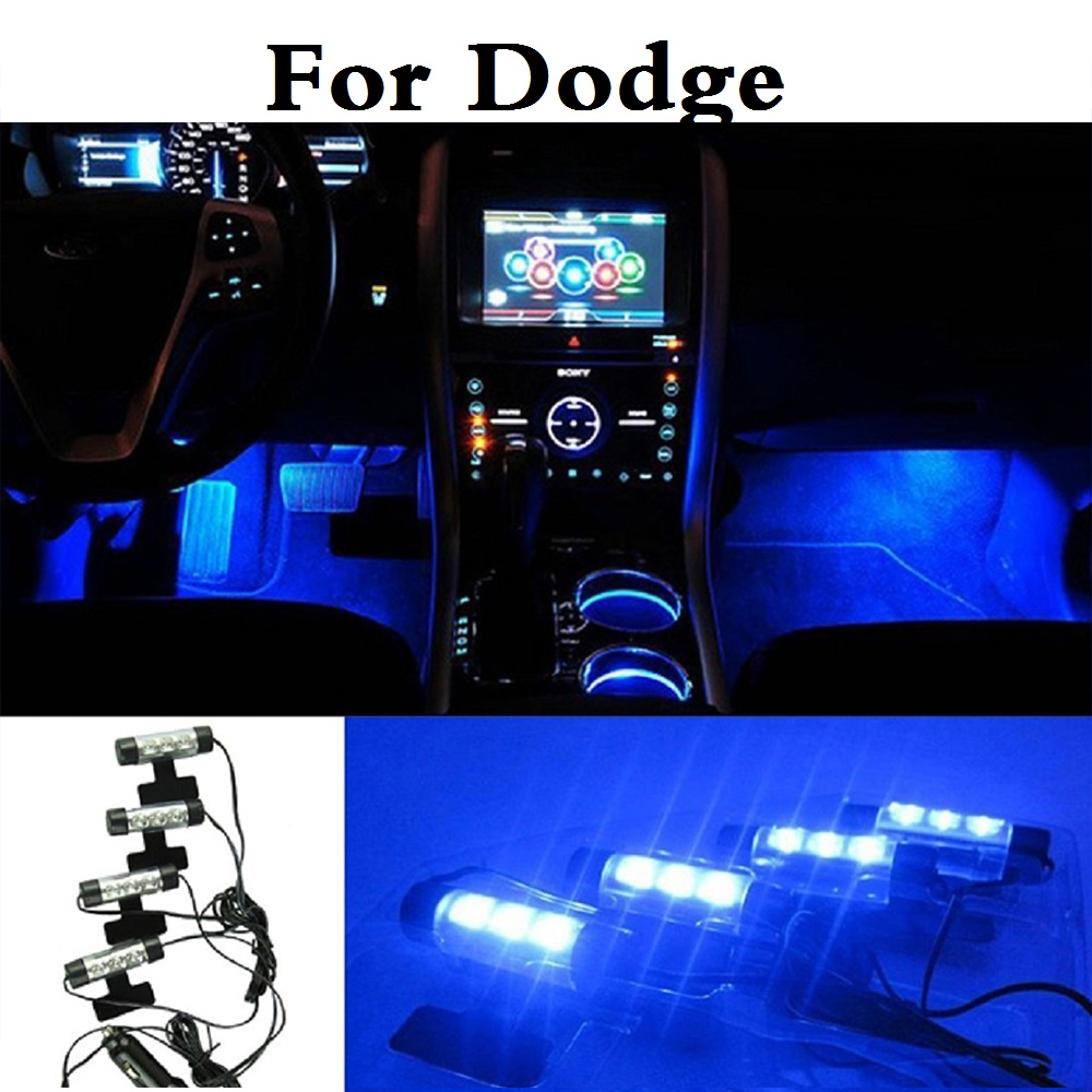 Us 10 81 New Car Styling Blue Led Interior Atmosphere Lights Decoration Lamp For Dodge Avenger Caliber Challenger Charger Dart Durango In Signal