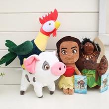 Moana плюшевые игрушки принцессы Моана Мауи Хей-Хей Пуа мягкие Мультяшные куклы подарок для детей 4 шт./партия 20 см