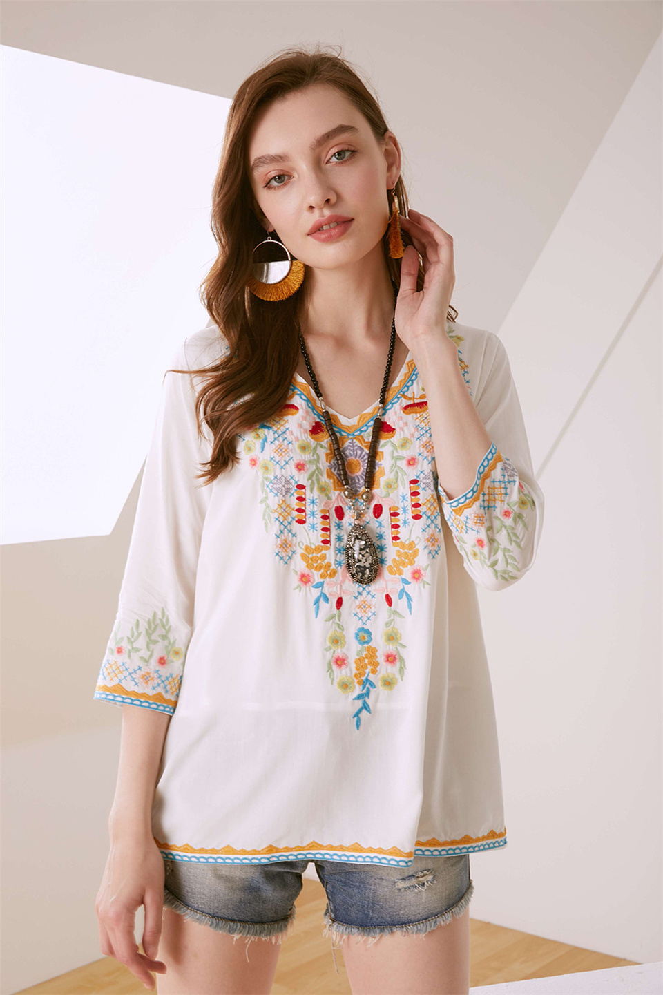 Embroidered Boutique Blouse Blouses 8