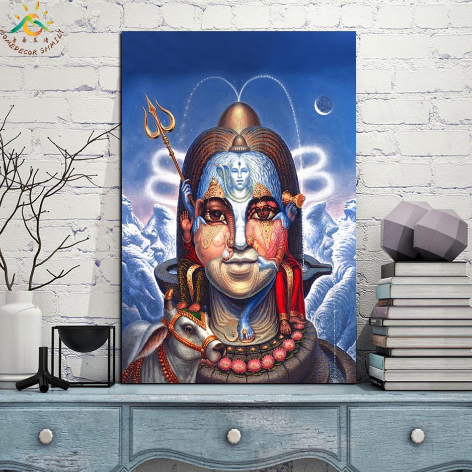 Lord God Picture Wall Art Single Panel Canvas Prints Painting with Frame Scroll Painting Hanging Poster Decorative Picture in Painting Calligraphy from Home Garden