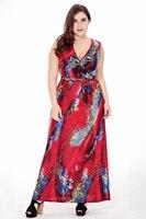 Yuerlian V Neck Knitted Summer Dresses Fat Women Sleeveless Vestidos 2017 Summer Lady Beach Casual Bohemian