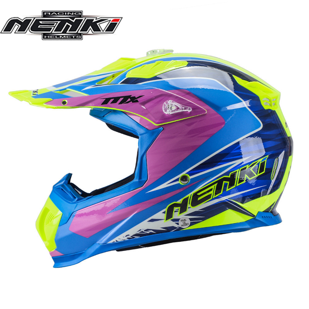 NENKI Motorcycle Motocross Helmet Off Road Casco Capacete Cross Downhill Moto MTB MX ATV DH Kask For KTM Helmets Dirt Bike стоимость