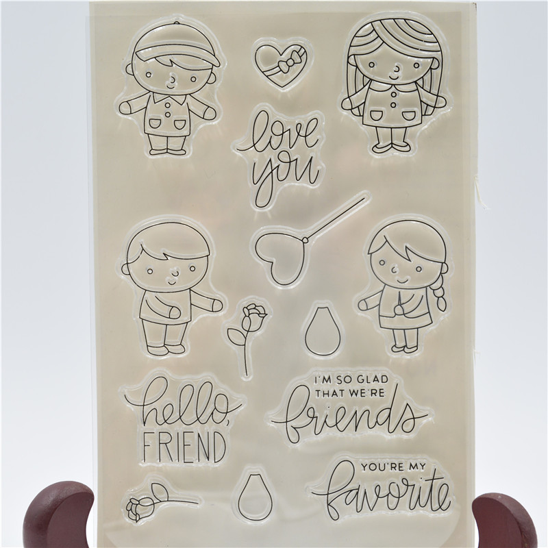 Friends Forever Transparent Clear Silicone Stamp/Seal for DIY scrapbooking/photo album Decorative clear stamp sheets QYDZ64 7 wired color video door phone intercom doorbell system kit set with outdoor ir camera white monitor electric control lock