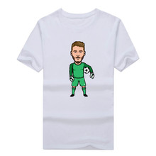 Hot super goalkeeper David De Gea Short Sleeve T-shirt Tee 100% Cotton fans T shirt 1205-15