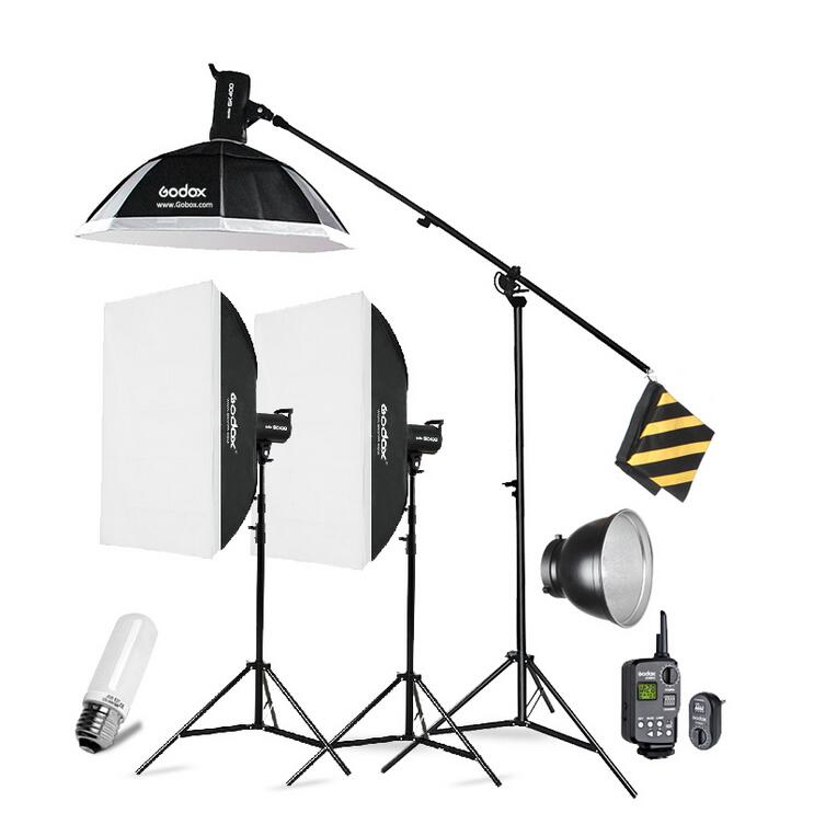 Godox 3xSK400 Strobe Lights Set Kits with RT-16 trigger + 3xSoftbox with Light Stand for Photography photo studio kit