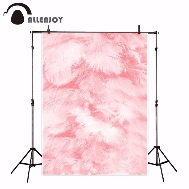 Allenjoy photography backdrops Pink feathers background Soft newborn background professional photography studio funds vinyl