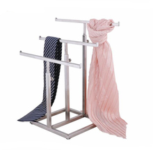 Scarves display rack ladder type stainess steel necktie silk scarf shelf holder adjustable tie wig hairpiece purse display stand hot sell metal tie display rack necktie display stand