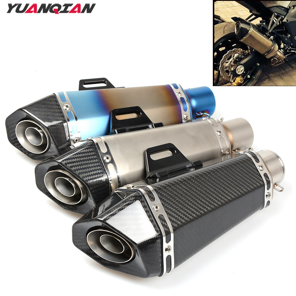 Universal 36-51MM Motorcycle Exhaust Pipe Modified Exhaust Muffler Pipe For BMW S1000RR F800R R1200GS Adventure F650GS F800GS H2 epman universal black 2 75 70mm polished aluminum fmic intercooler piping kit diy pipe length 600mm for bmw e36 ep lgtj70 600