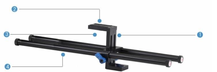 Free shipping studio 28cm dslr rigs Quick Release dslr rail 15mm rod support system mount for Cage Follow Focus 5D2 5D 5D3 7D tilta ug t03 universal dslr rigs front handgrip for 15mm 19mm rod rail system shoulder mount rig