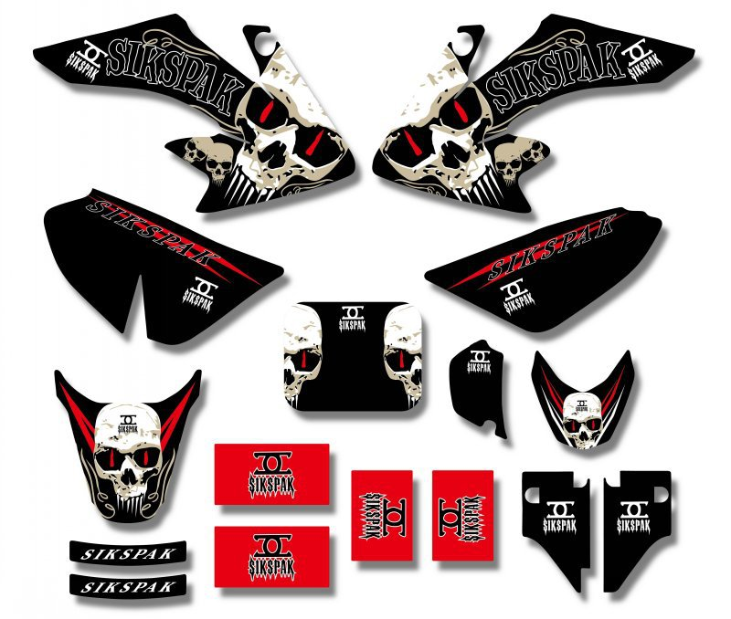 H2CNC GRAPHICS & BACKGROUND DECAL STICKER Kits For Honda CRF50  CRF 50 Pit Bike