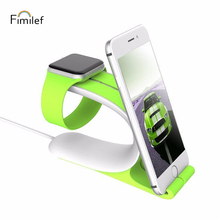 Fimilef titular del teléfono móvil para Apple reloj 2in1 Smart Watch soporte de carga estación del muelle soporte de banda para iPhone Tablet