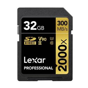 Image 2 - קידום!!! Lexar SD כרטיס 32GB SDHC U3 Class 10 2000X UHS II כרטיסי 300 MB/s במהירות גבוהה פלאש זיכרון כרטיס עבור 3D 4K וידאו מצלמה