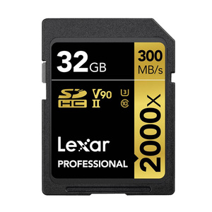 Image 2 - Promotion!!! Lexar SD Card 32GB SDHC U3 Class 10 2000X UHS II cards 300MB/s High Speed Flash Memory card For 3D 4K video Camera