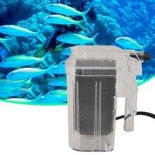 Мини 220-240 В Рыбы черепаха в аквариуме внешний кислорода водопад с насосом фильтр циркуляции воды мини аквариум Мощность фильтр