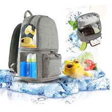 COLORLAND brand multi-function mother insulation bottle diaper bag backpack large capacity baby back milk storage