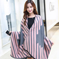 2016 Christmas Gift Winter Womens Scarfs Fashionable Cashmere Wool Scarves Stripe Elegant Vintage Shawl Keep Warm Soft Scarf