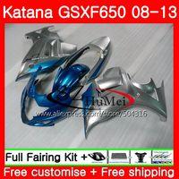 Body For SUZUKI KATANA GSXF 650 Cyan silver GSXF650 08 09 10 11 12 13 40SH16 650F GSX650F 2008 2009 2010 2011 2012 2013 Fairing