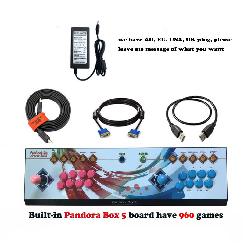 Pandora's Box 5 HD VGA output video fighting game consoles,multi games 960 in 1 / 815 in 1 pandora box 4S mini game machine
