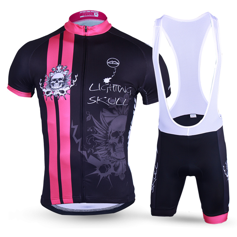 Evil Pattern Cycling Jersey Sets With Bib Pants 2018 Pro Tour Bicycle Mountain Road Clothing Suit Maillot A Bike Cycliste Equipe