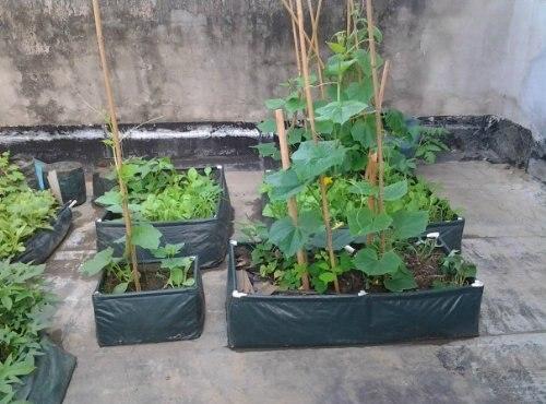 Eco Friendly Waterproof Garden Vegetables Grow Planter Bag 90x60x25cm